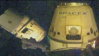 SpaceX CRS-14: Dragon departure from the ISS