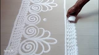 Border rangoli designs | Border design patterns | Door border rangoli designs