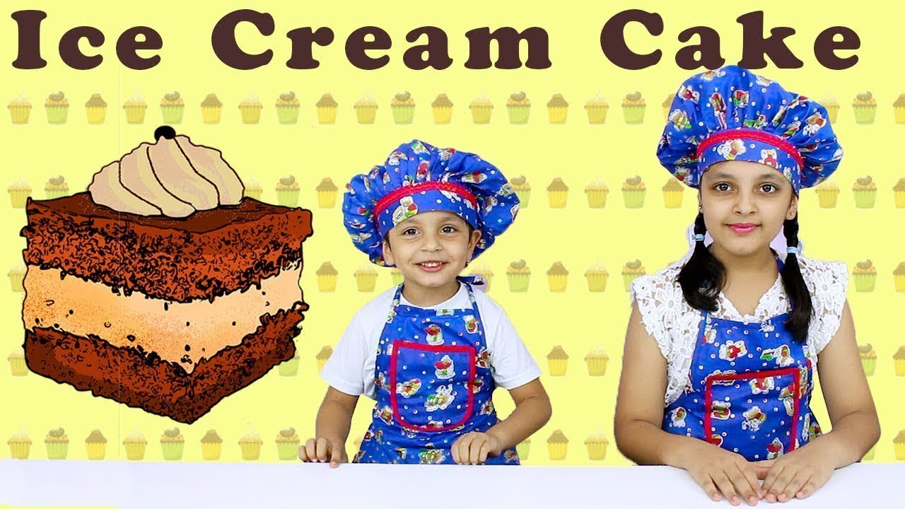 9b7692436c16 CHOCOLATE ICE CREAM CAKE | Cooking without fire for kids | Indian Kids  Cooking | Aayu And Pihu Show