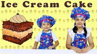 CHOCOLATE ICE CREAM CAKE | Cooking without fire for kids | Indian Kids Cooking | Aayu And Pihu Show