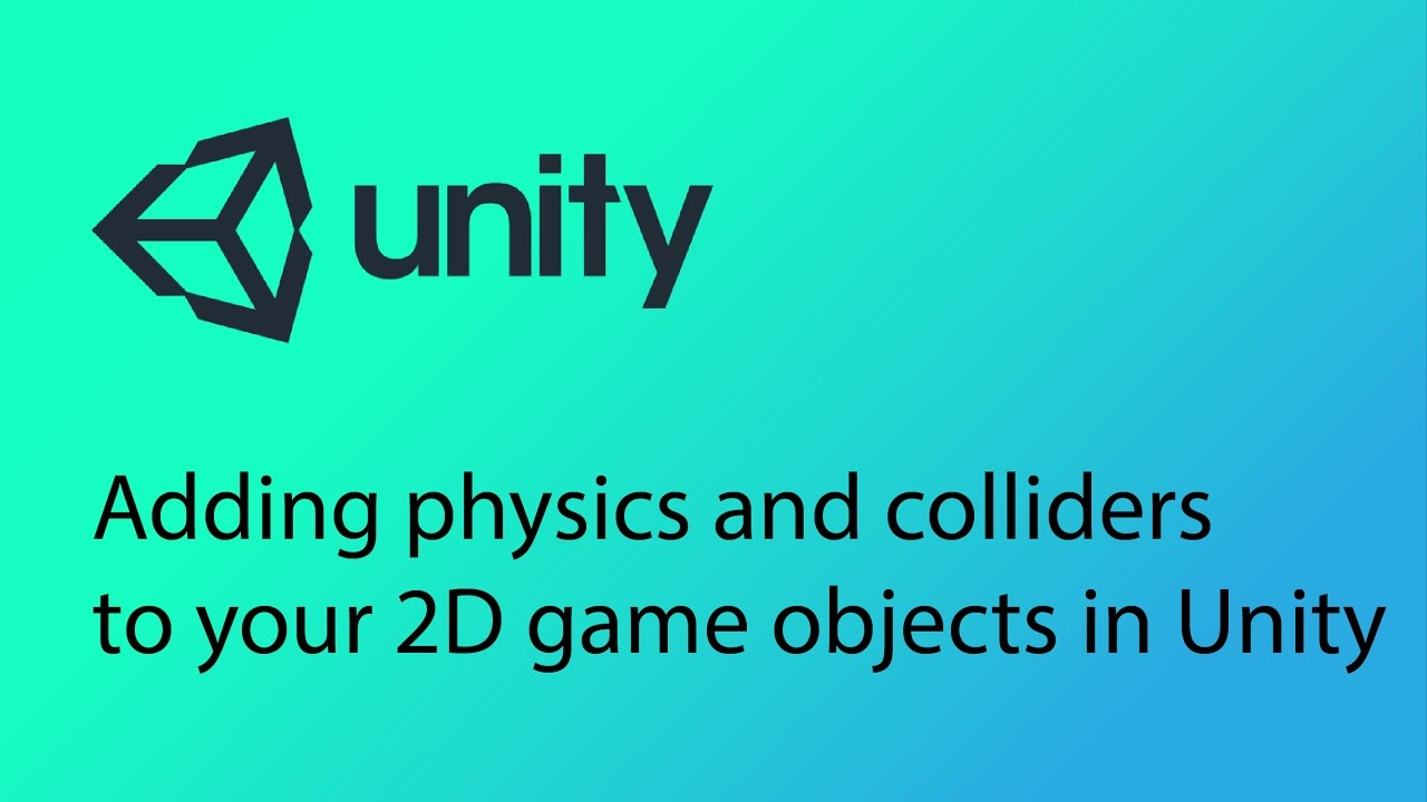 Unity 2D Game Design Tutorial 3 - Adding physics and colliders to objects