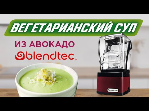 Веганский крем-суп в американском блендере Blendtec Professional 800 на выставке Амбиенте 2019