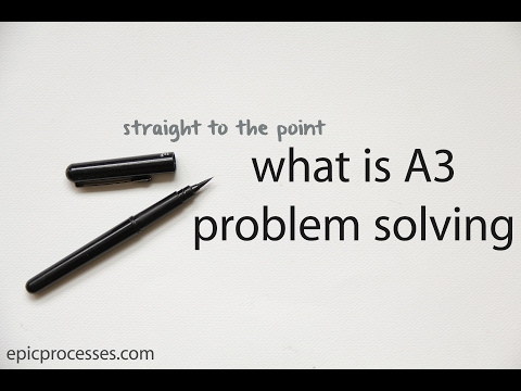 straight to the point: what is A3 problem solving