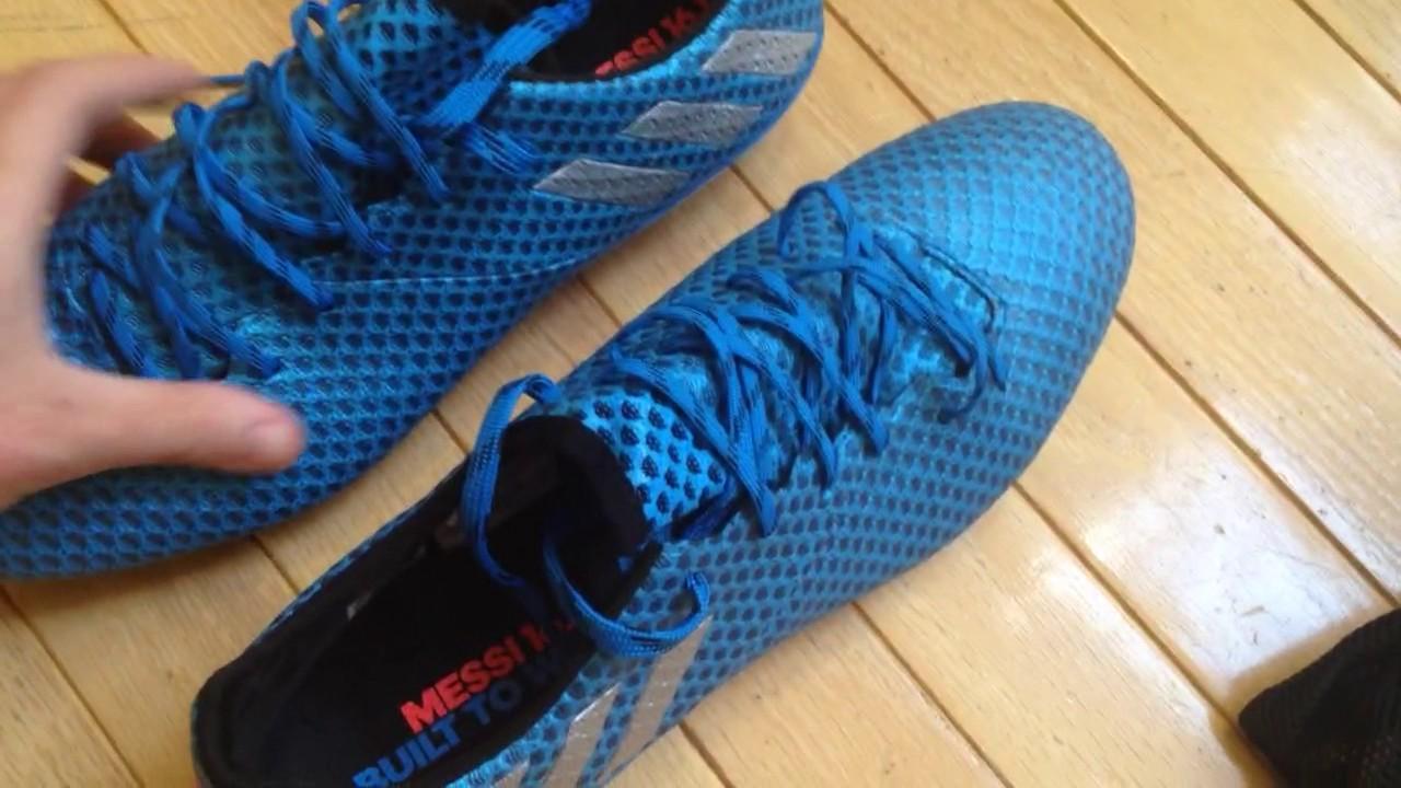 adidas Messi FG (Schock Blau) UNBOXING