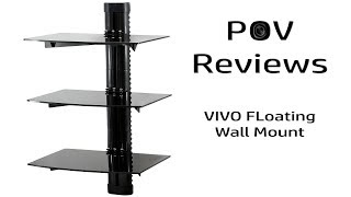 VIVO Floating Wall Mount Tempered Triple Glass Shelf Review
