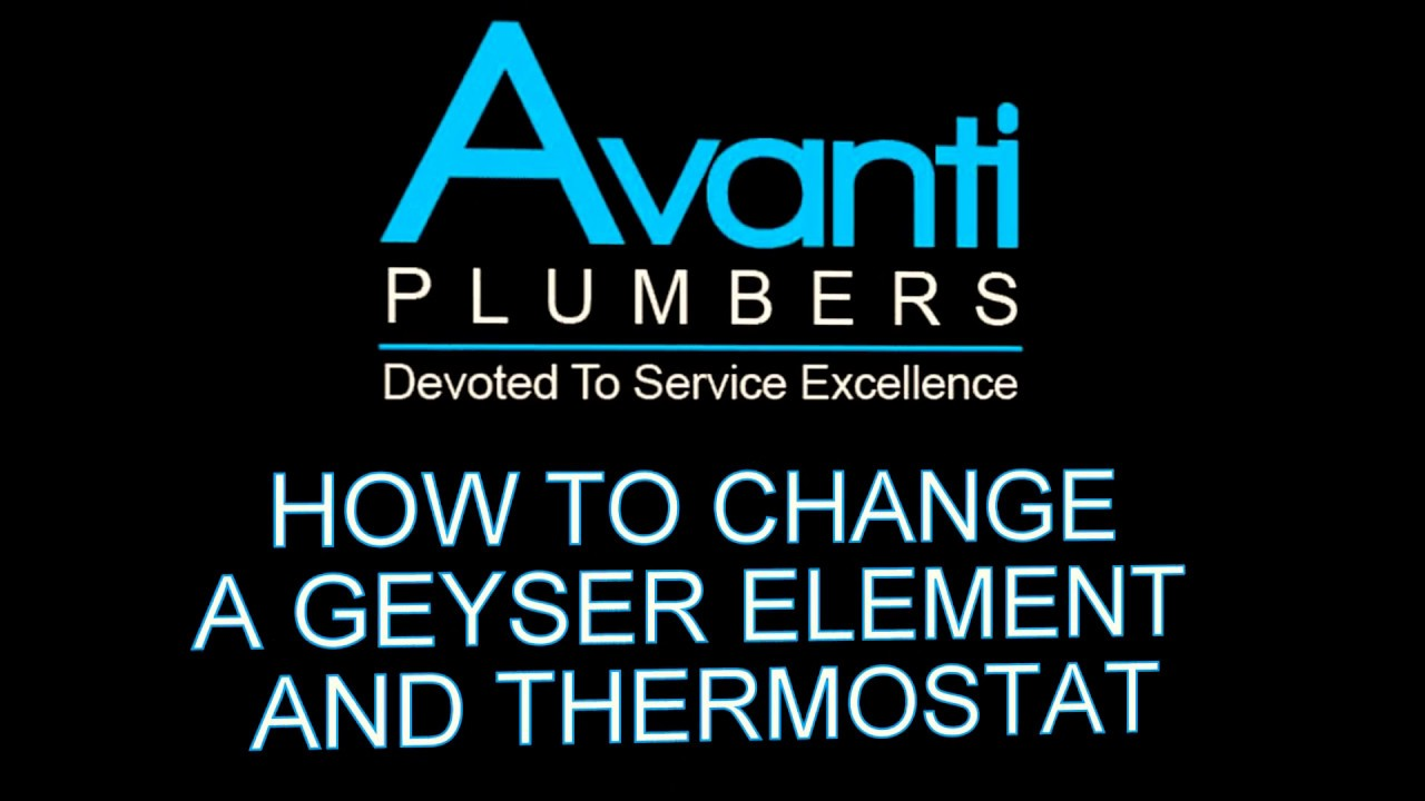 How To Replace Or Change An Element And Thermostat On A Geyser Or Water Heater