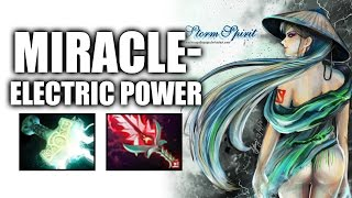 Electric Power Carry Storm Spirit by Miracle- Dota 2