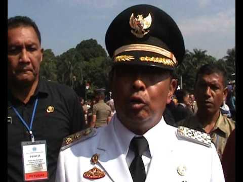 Sekda Gianyar perwira upc Pengukuhan IPDN XXI oleh RI 1