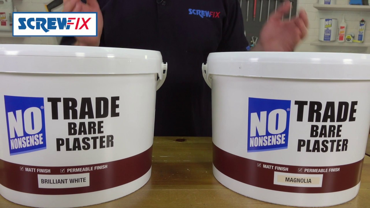 no nonsense trade bare plaster paint screwfix youtube. Black Bedroom Furniture Sets. Home Design Ideas