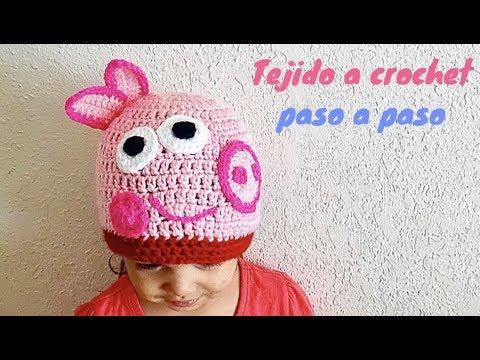 Como tejer gorro de pepa pig a crochet paso a paso youtube jpg 480x360 Peppa  pig 393c751e649