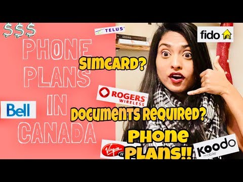 How To Get A Phone Number In Canada For New Immigrants | Canada Sim Card & Cell Phone Plans