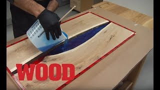 How To Make An Epoxy Resin Flowing Table - WOOD magazine