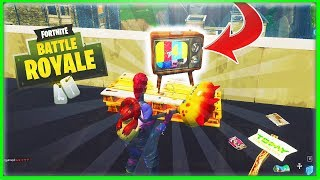 NEW *Llama* TELEVISION in Tilted Towers! IT'S HAPPENING!! Tilted Towers is Getting DESTROYED!!