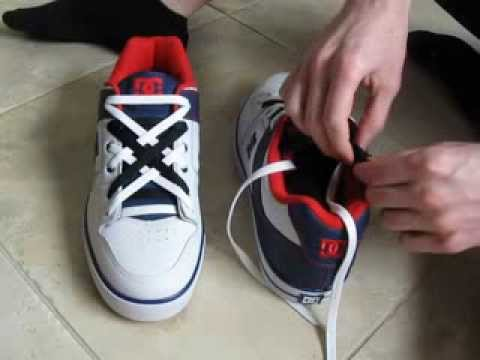 COOL How To Diagonal Lace Shoes with 2 COLORS of Laces - YouTube 93095c217