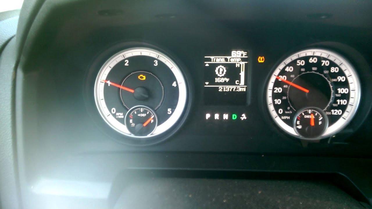 2013 Dodge Ram Cummins gauges fluctuating ram truck ram 2500 2013 ram truck - YouTube