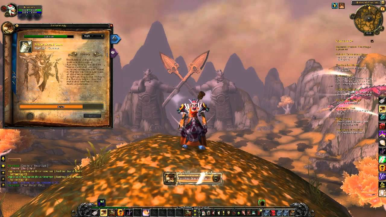 World of Warcraft - Starting Archaeology in Mists of Pandaria - YouTube