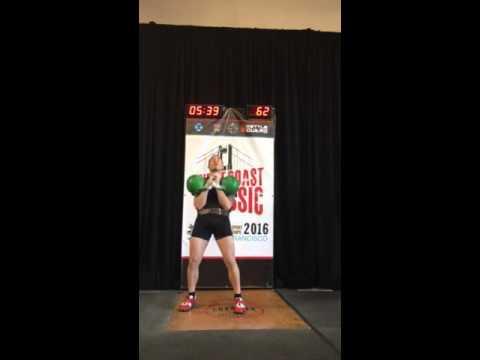 West Coast Classic - Jerk 24kg / 142 reps 6 Feb 2016