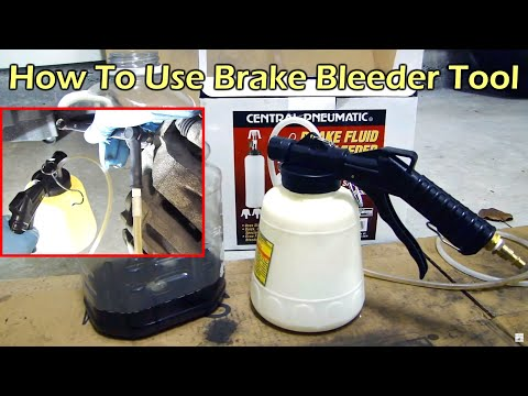 How To Use HF Pneumatic Brake Fluid Bleeder - One Person Job