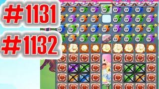 Candy Crush Saga Level 1131-1132, NEW! Complete!
