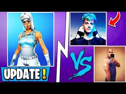 *NEW* Fortnite Update! | Ninja vs HD, OG Frozen Skin, Big Announcement!