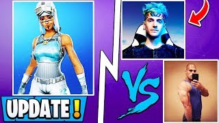 Mise à jour Fortnite ' ' ' ' ' ' ' ' ' ' ' ' ' ' ' ' ' ' ' ' ' Ninja vs HD, OG Frozen Skin, Big Announcement!