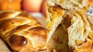 Apple Filled Tsoureki: Cinnamon Apple Filled Brioche Braid