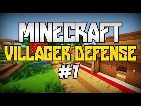 Minecraft: Villager Defense [#1] - OGROMNY BOSS & Nowa seria? ft.EvilBadDay