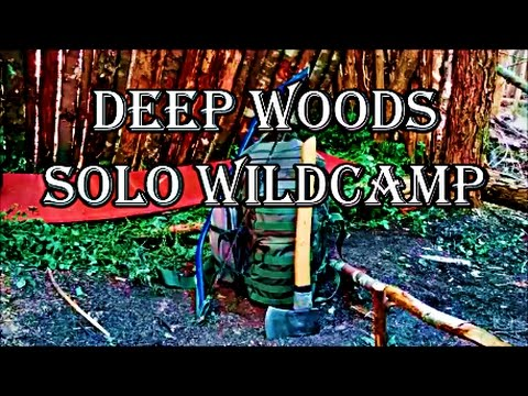 Deep Woods Canada Solo Wildcamp | Bushcraft Shelter