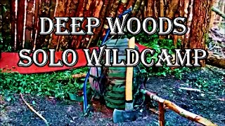 Deep Woods Canada Solo Wildcamp | Bushcraft Shelter