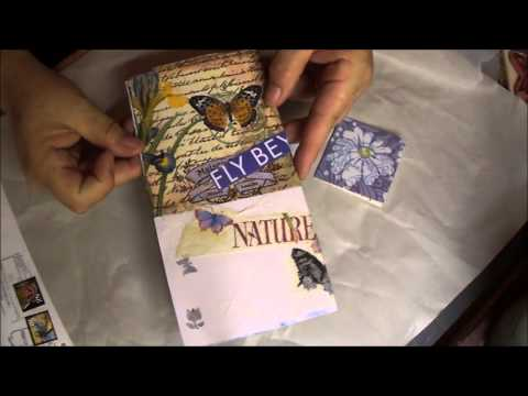 Deconstructed art journaling pages April do over and Mays page share