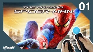 the amazing spider man ps move walkthrough part 1 chapter 1 oscorp is your friend
