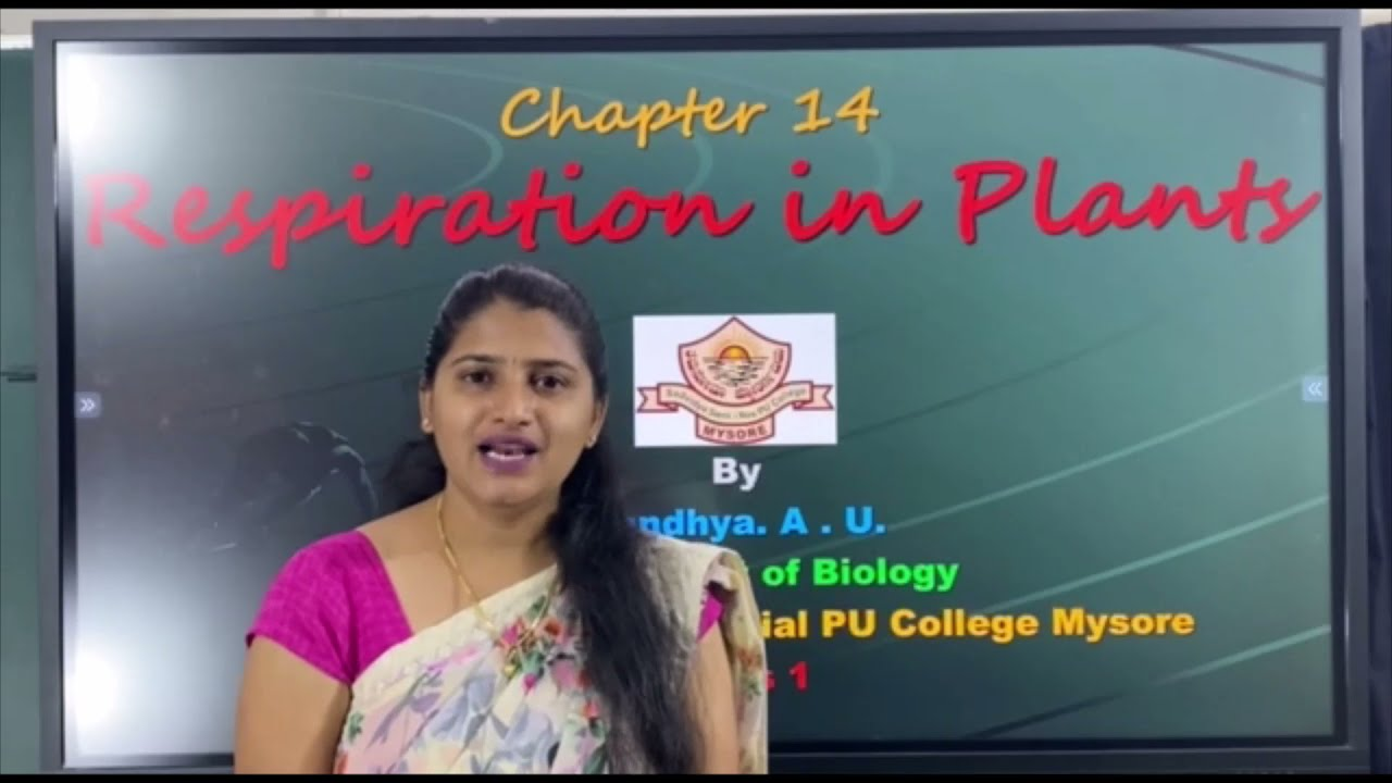 I PUC | BIOLOGY | RESPIRATION IN PLANTS -  01