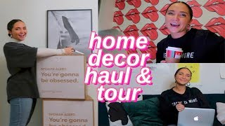 new home decor haul & decorating my house! house tour