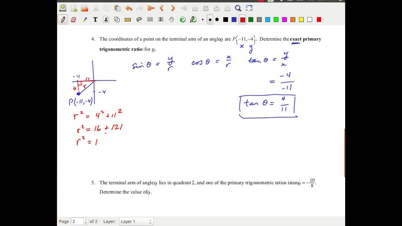 Mcr3u Trigonometry Examples Using Cast Rule Trigonometric
