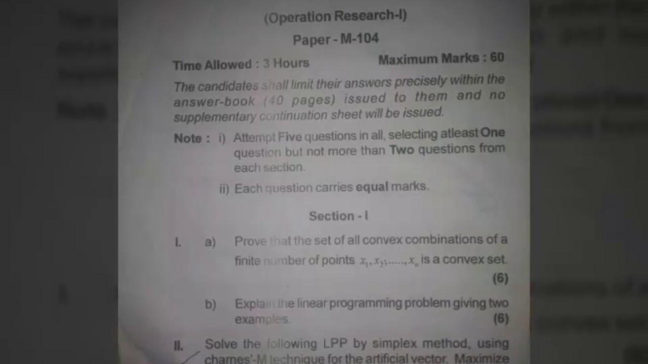 Research paper in mathematics