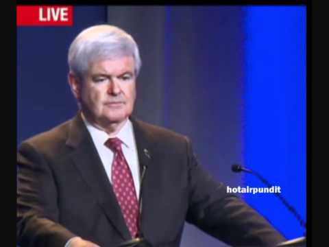 Newt Rips Obama at Pennsylvania Conference