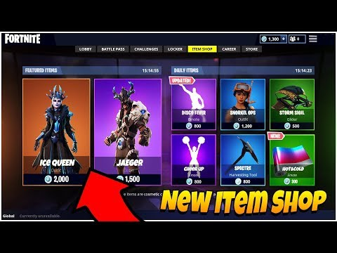 Fortnite ITEM SHOP Update NEW ICE QUEEN SKIN! 17th January 2019  (Fortnite Item Shop Live Countdown) thumbnail
