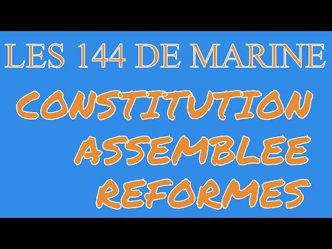 Les 144 de Marine - #2 : Administration - Constitution - Assemblée Nationale