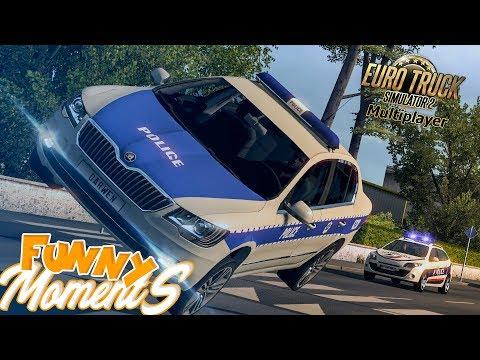 Euro Truck Simulator 2 Multiplayer Funny Moments & Crash Compilation #85
