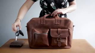 Woody / обзор кожаного портфеля ручной работы