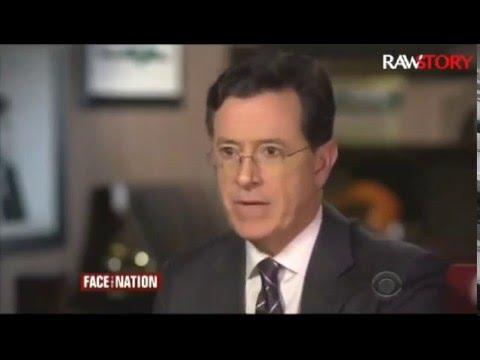 Liberal hero Stephen Colbert surrenders to Trump. Wow!