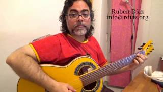 Playing through chord changes in other styles / Q & A Ruben Diaz guitar lesson CFG Spain