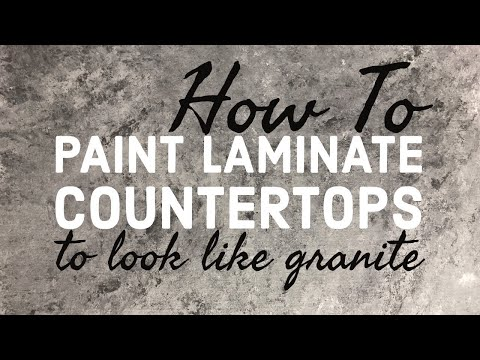 How To Paint Laminate Countertops To Look Like Granite