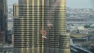 Burj Dubai Khalifa Pinnacle BASE Jump