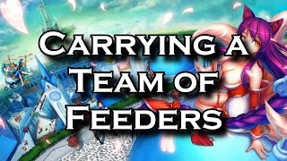 Carrying a Team of Feeders: A Close Game Ranked Solo Queue Commentary | League of Legends LoL