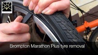 Brompton Schwalbe Marathon Plus Tyre Removal