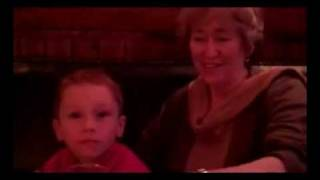 Martha Grimes and her Grandchildren at the Only Running Footman Pub, London
