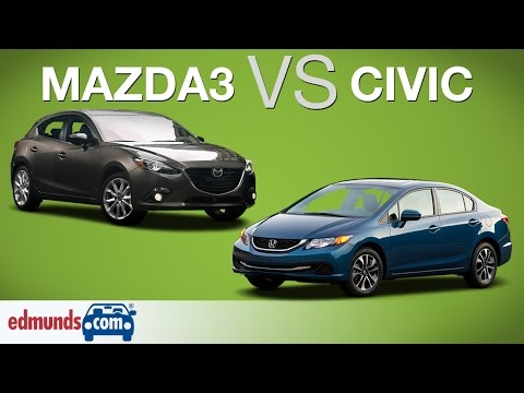 2014 Honda Civic vs 2014 Mazda3 | Edmunds A-Rated Compact Cars Face Off