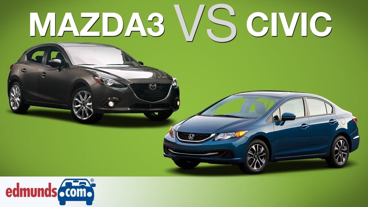 Original 2014 Honda Civic Vs 2014 Mazda3  Edmunds ARated Compact