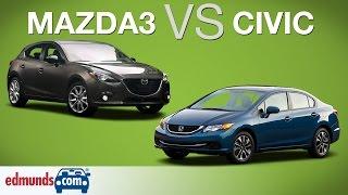 2014 Honda Civic vs 2014 Mazda3 | Edmunds A-Rated Compact Cars Face Off